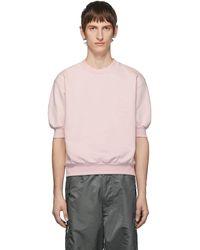Random Identities ピンク フリースショート スリーブ スウェットシャツ