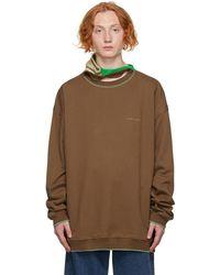 Y. Project Brown Three Neck Sweatshirt