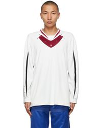 Kiko Kostadinov T-shirt à manches longues blanc Norman Armour