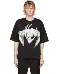 DIESEL ブラック T-delphi-slits-a3 T シャツ