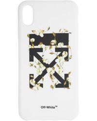 Off-White c/o Virgil Abloh - ホワイト コットン アロー Iphone Xs Max ケース - Lyst
