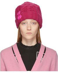 Off-White c/o Virgil Abloh Knit Pop Color Hat - Pink