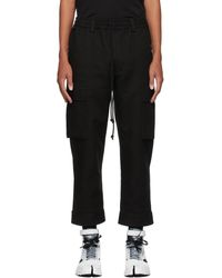 Song For The Mute Black Tabbed Cargo Pants