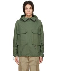 Reese Cooper Cotton Canvas Anorak Jacket - Green