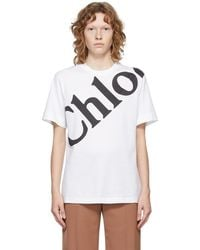 Chloé ホワイト ロゴ T シャツ