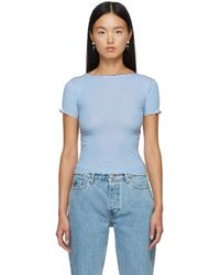 Baserange ブルー Vein T シャツ