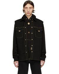 Versace Jeans Couture ブラック デニム アイコン ベスト