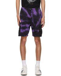 Neighborhood Short à motif tie-dye mauve et noir édition Gramicci - Violet