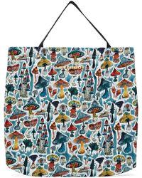 Charles Jeffrey LOVERBOY Blue Large Shrooms Tote Bag