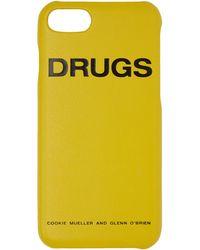 Raf Simons イエロー Drugs Iphone 7 ケース