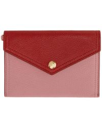 Miu Miu - Pink And Red Envelope Pouch - Lyst