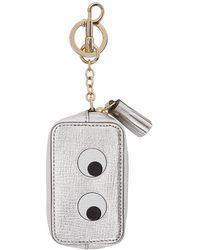 Anya Hindmarch - Silver Eyes Coin Purse Keychain - Lyst