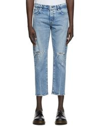 Moussy Blue Denim Mvm Lucile Tapered Jeans