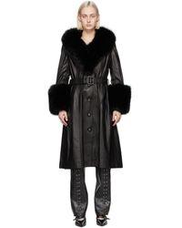 Saks Potts Black Fur Foxy Coat