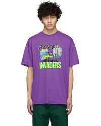 ADER error - Purple Invaders T-shirt - Lyst
