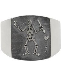 Stolen Girlfriends Club Silver Pirate Plate Ring - Metallic