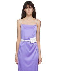 MEDEA White Wallet Strap Pouch - Purple