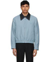 Second/Layer Blue Profundo Blouson Jacket