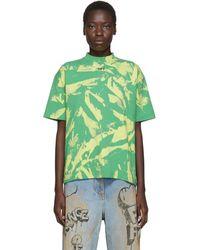 Off-White c/o Virgil Abloh Green Tie-dye T-shirt
