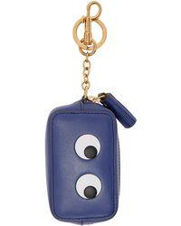 Anya Hindmarch - Blue Eyes Coin Purse Keychain - Lyst