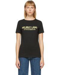 Helmut Lang T-shirt a logo noir