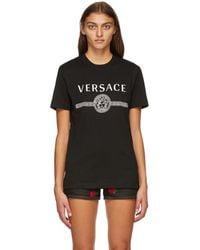 Versace ブラック Medusa T シャツ