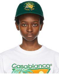 CASABLANCA グリーン Tennis Club キャップ