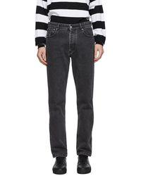 AMI ブラック 5 ポケット ジーンズ