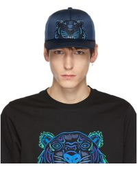 KENZO - Navy Limited Edition Holiday Satin Tiger Cap - Lyst