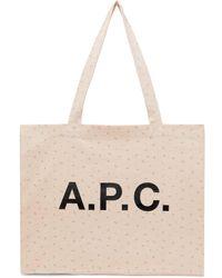 A.P.C. ピンク Diane ショッピング トート
