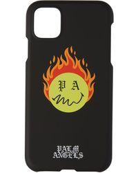 Palm Angels ブラック Burning Head Iphone 11 ケース