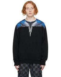 Marcelo Burlon ブラック & ネイビー Wings スウェットシャツ