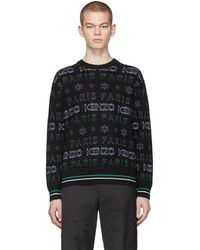 KENZO - Black And Purple Limited Edition Holiday Knit Sweatshirt - Lyst