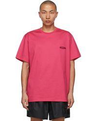 Wooyoungmi T-shirt à logo brodé rose