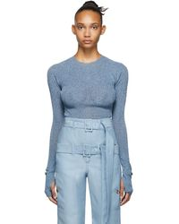 Lanvin ブルー メタリック セーター