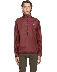 District Vision Blouson bourgogne Theo Membrane Shell - Rouge
