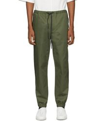 3.1 Phillip Lim Green And Black Tape Trim Sweatpants