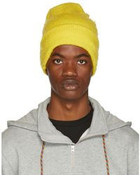 Acne Studios - Yellow Wool And Cashmere Beanie - Lyst