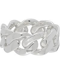 Ambush - Silver Curb Chain Ring - Lyst