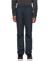 John Elliott Pantalon bleu marine Naval Himalayan