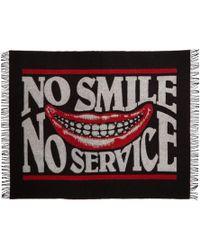Stella McCartney ブラック And レッド No Smile ブランケット スカーフ