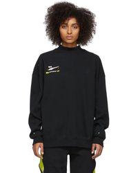 ADER error Puma Edition ブラック クルーネック スウェットシャツ