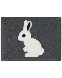 Thom Browne Gray Rabbit Icon Card Holder