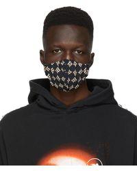 MISBHV ブラック モノグラム フェイス マスク