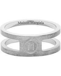 Maison Margiela Bague a logo argentee Decortique - Métallisé