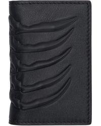 Alexander McQueen Navy Rib Cage Bifold Wallet - Blue