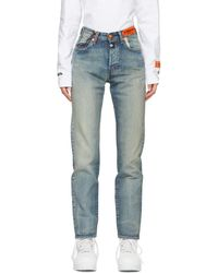 Heron Preston Jean en denim bleu 501 edition Levis