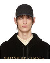 Gucci Casquette de base-ball avec détail bande Web - Noir