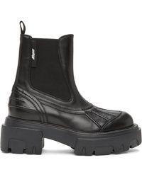 MSGM Pull-on Boots - Black