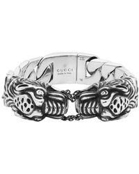 Gucci シルバー ビンテージ Tiger ブレスレット - メタリック